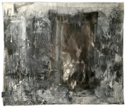 Skeffling, Saint Helen's. Window in the south aisle by the tower. Graphite and gesso on paper, 59.5x50.5 inches.