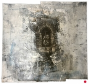 Sunk Island, Holy Trinity. Window in the west wall of the vestibule. Graphite and gesso on paper, 53.5x53 inches.